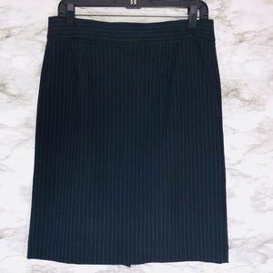 J.CREW Navy Pinstripe Skirt